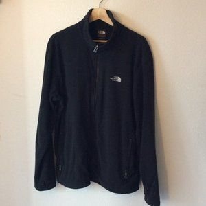 North Face Mens Black Full Zip Sweater